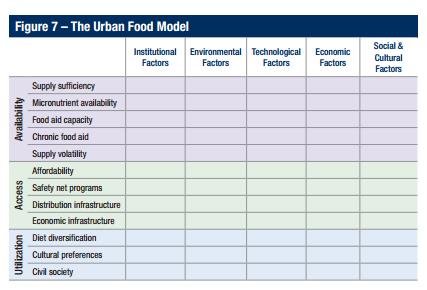 Chicago Council Urban Food Model Matrix