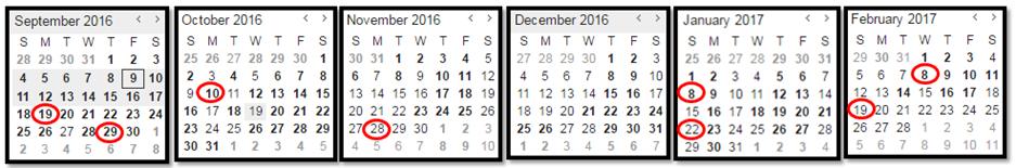 FTFMS Calendar