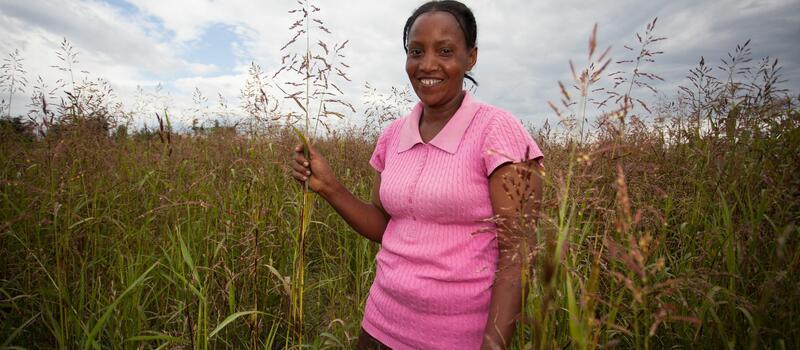 Woman on her farm in Kiganto, Kenya
